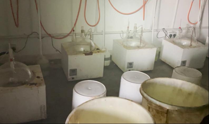 Meth lab image
