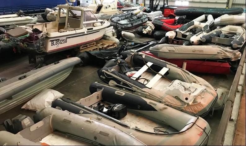 Seized boats