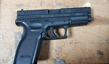 Midlands man charged following recovery of two semi-automatic pistols