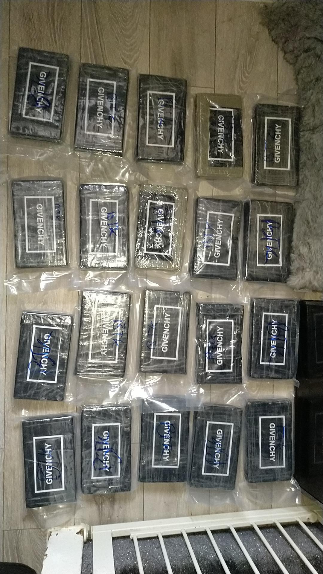 Drugs in packages on floor