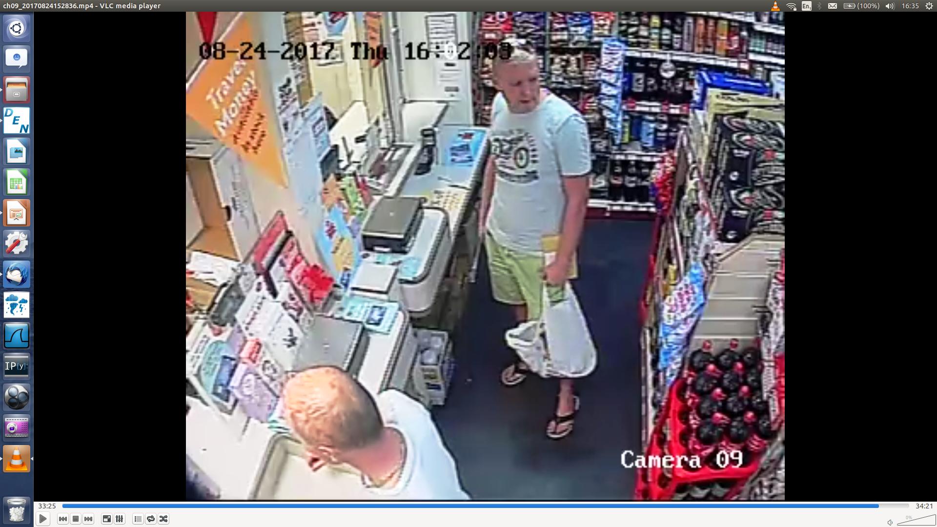 CCTV screenshot of subject posting fentanyl