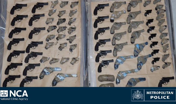 Third man sentenced for importing 95 lethal hand guns into UK