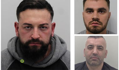 Image showing three convicted men.