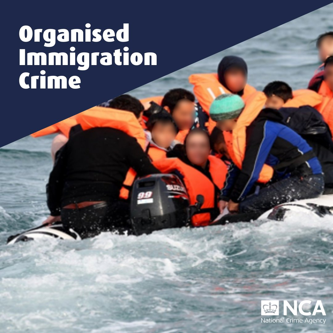 Organised Immigration Crime: Migrants on a small boat