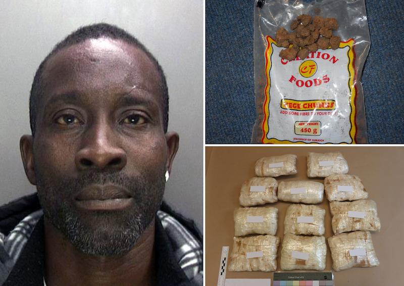 £420k worth of cocaine hidden in Jamaican 'veggie chunks'
