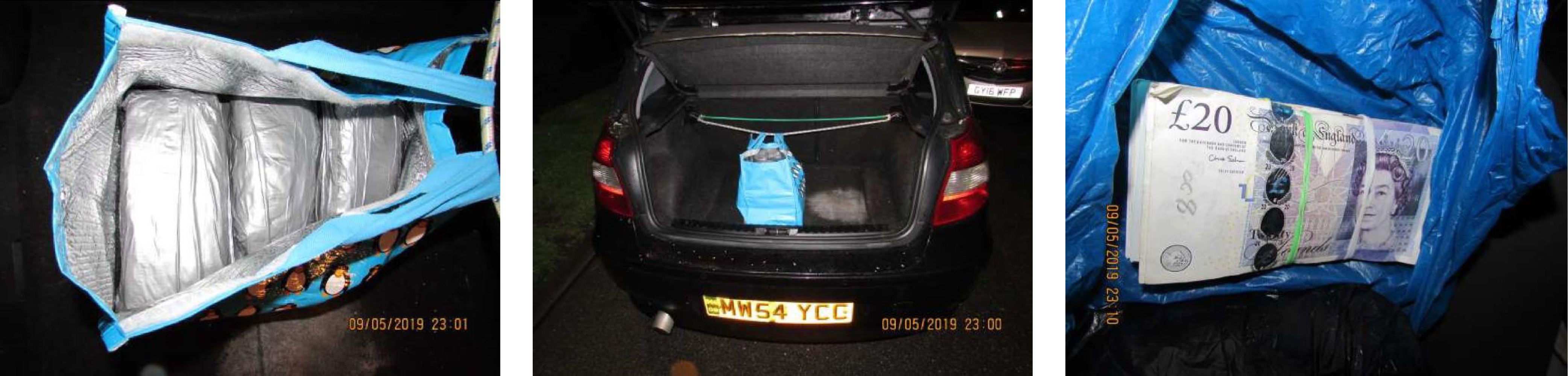 Gallery: Drugs, drugs in car boot and cash