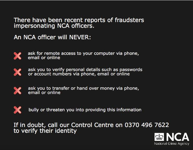 Verify an NCA Officer - National Crime Agency